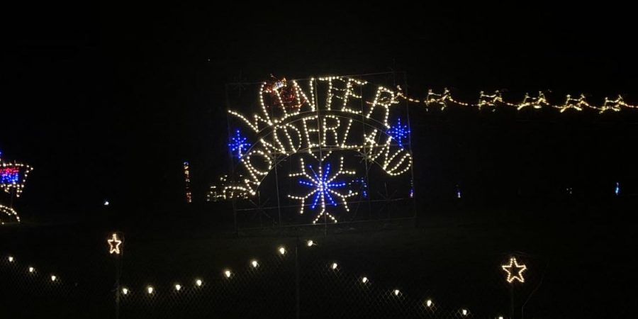 A bright and warm welcome to the Winter Wonderland light show at PIR.