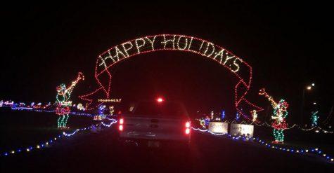 The Portland International Raceway hosts the Winter Wonderland light show.