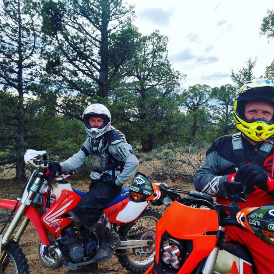 Freshman Koltyn Kenworthy, continues to spend time outside on his dirt bikes with his friends and family at Cline Butte in Central Oregon.