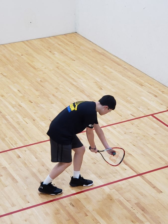 Jeb Guilleux at Racketball practice