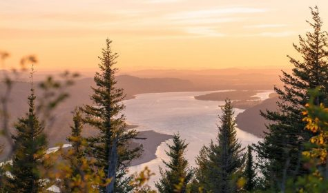 Angels Rest at sunset