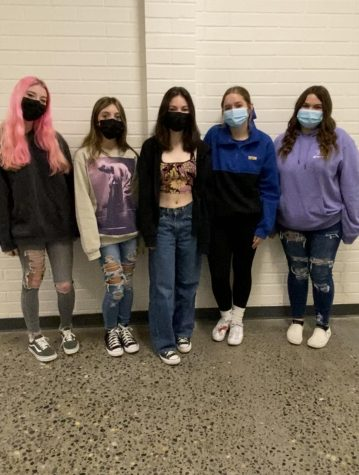 Caption: From left to right, meet our new staff writers, Adayah Trickel, Hailey Walker, Mia Fiedler, Tatum Louthan, and Cheyenne Comeau.